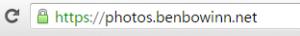 SSLを使っているこのブログを表示した際のブラウザのURL欄