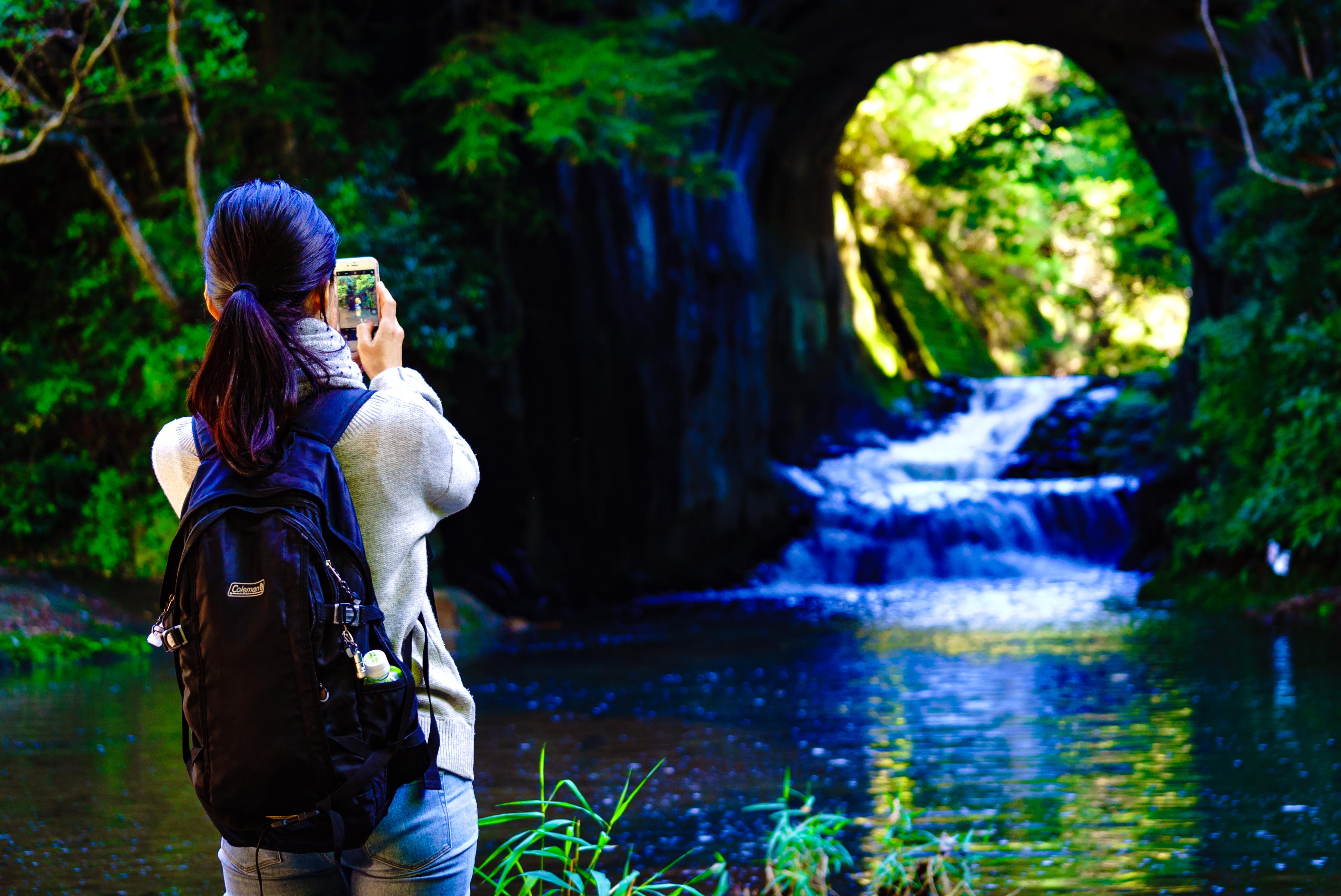 濃溝の滝の風景3